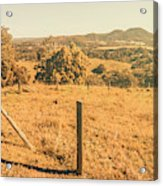 Farm Fields Of Eumundi, Sunshine Coast Acrylic Print