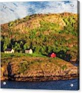 Farm On The Edge Acrylic Print