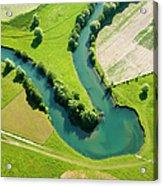 Farmland Patchwork, Aerial View Acrylic Print