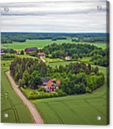Farms And Fields In Sweden North Europe Acrylic Print
