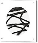 Fastball 2- Modern Art By Linda Woods Acrylic Print