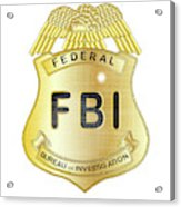 Fbi Badge Acrylic Print