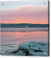February Sunrise On The Hudson Acrylic Print