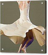 Female Ballet Dancer Dancing Acrylic Print