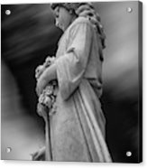 Female In Cemetary II Acrylic Print