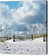Fences In The Sand Acrylic Print