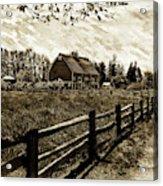 Ferndale Barn Acrylic Print