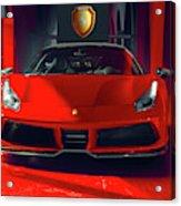 Ferrari Red Acrylic Print