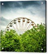 Ferris Wheel Behind Trees Acrylic Print