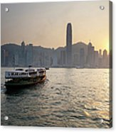 Ferry Boat To Hong Kong Acrylic Print