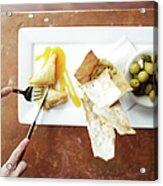 Feta Crisps Acrylic Print