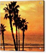 Fiery California Sunset Oceanside Beach Acrylic Print