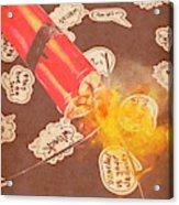 Fiery Fuse Acrylic Print