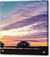 Fiery Sunset Over Canyon Lake - Comal County - Central Texas Hill Country Acrylic Print