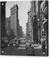 Fifth Ave. And The Flatiron Bldg Acrylic Print