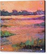 Fire Marsh Acrylic Print