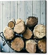 Fire Wood.  Home Living Concept Acrylic Print