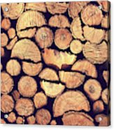 Firewood Logs Acrylic Print