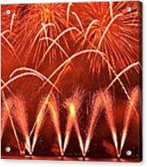 Fireworks Over West Lake, Hangzhou Acrylic Print