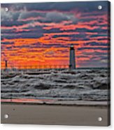 First Day Of Fall Sunset Acrylic Print