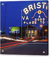 First Night Of The Bristol Sign With New Led Bulbs Acrylic Print