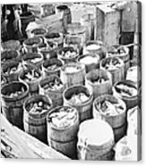 Fish For Sale In Barrels At The Fulton Acrylic Print