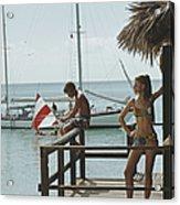 Fishing On Honeymoon Porch Acrylic Print