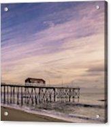 Fishing Pier Sunrise Acrylic Print