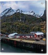 Fishing Village A On Lofoten Acrylic Print