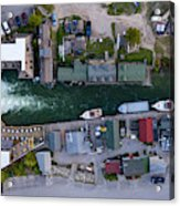 Fishtown Dam Panorama From Above Acrylic Print