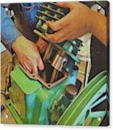 Fixing A Compressor Pump Acrylic Print