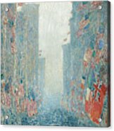 Flags, Afternoon On The Avenue, 1917  Acrylic Print