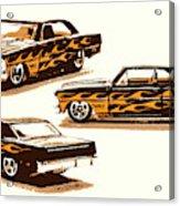 Flamin Chevrolet 66 Nova Acrylic Print