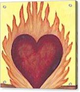 Flaming Heart Acrylic Print