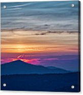Flaming Sunset Acrylic Print