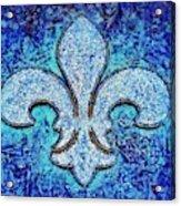 Fleur De Lis Blue Ice Acrylic Print
