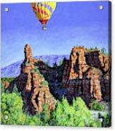 Flight Over Thumb Rock Acrylic Print