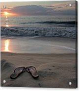 Flip-flops On The Beach Acrylic Print