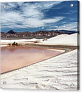 Flooded Dunes At Death Valley National Acrylic Print