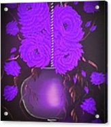 Floral Roses With So Much Passion In Purple  Acrylic Print