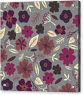 Floral Seamless Pattern. Colored Acrylic Print