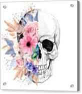Floral Skull 2 Acrylic Print