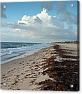 Florida Beach With Gentle Waves And Acrylic Print