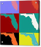 Florida Pop Art Map Acrylic Print