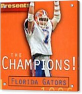 Florida Qb Danny Wuerffel, 1997 Sugar Bowl Sports Illustrated Cover Acrylic Print
