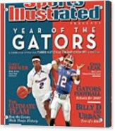 Floridas Corey Brewer And Qb Chris Leak, Florida Gators Sports Illustrated Cover Acrylic Print