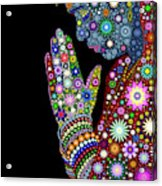 Flower Prayer Girl Acrylic Print