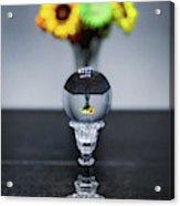 Flowers And Crystal Ball Acrylic Print