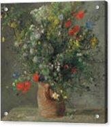 Flowers In A Vase, Circa 1866 Acrylic Print