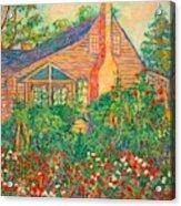 Flowery Backyard Acrylic Print